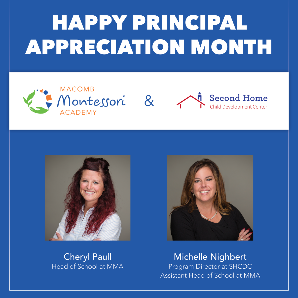 cheryl and michelle principal appreciation